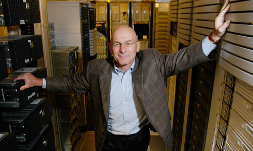 David Patterson in room of servers
